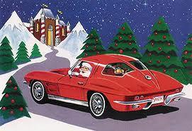 Santa in a Corvette